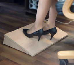 Footrest with infrared heating.